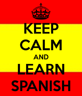 Keep calm and learn spanish poster