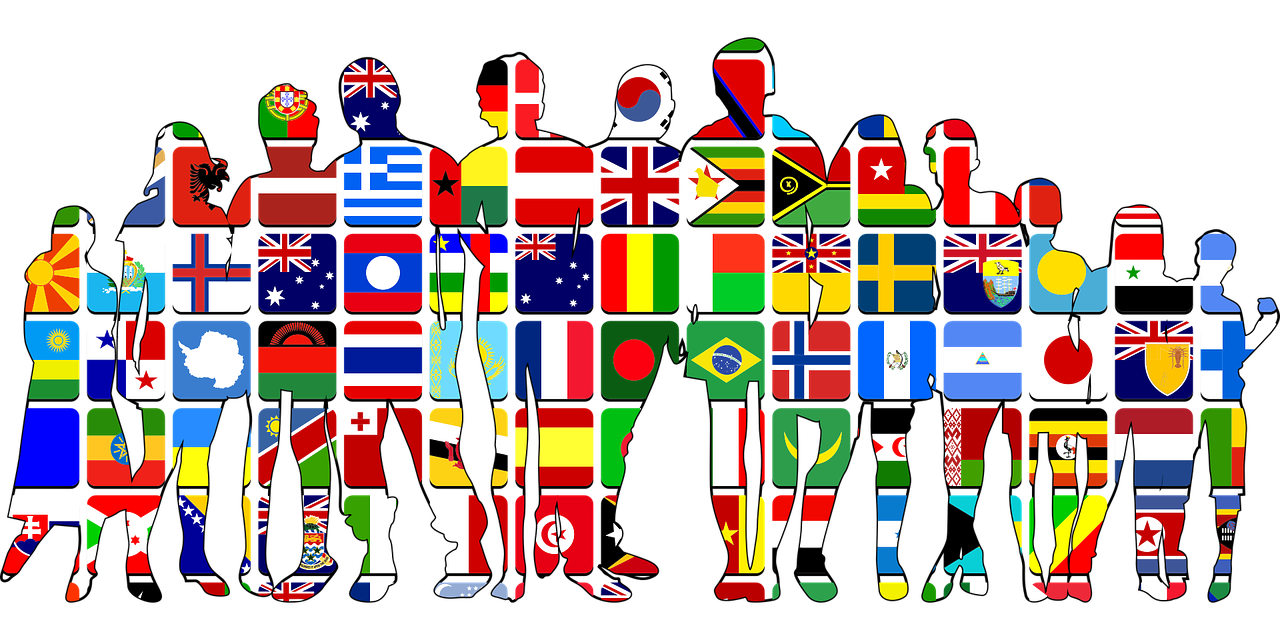group outline of world nationalities