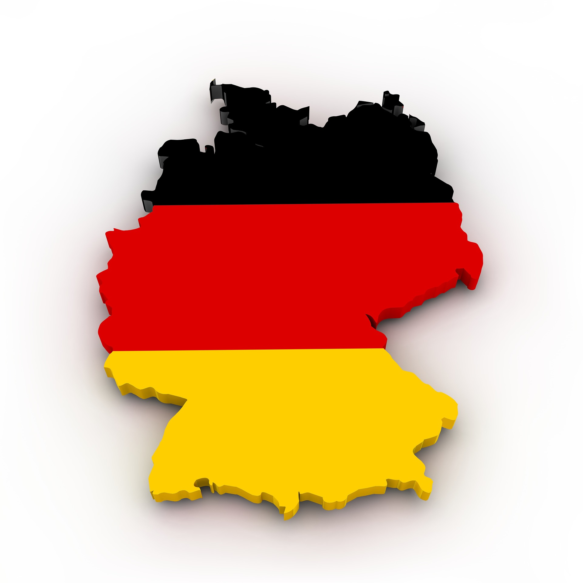 map of Germany made up of national flag