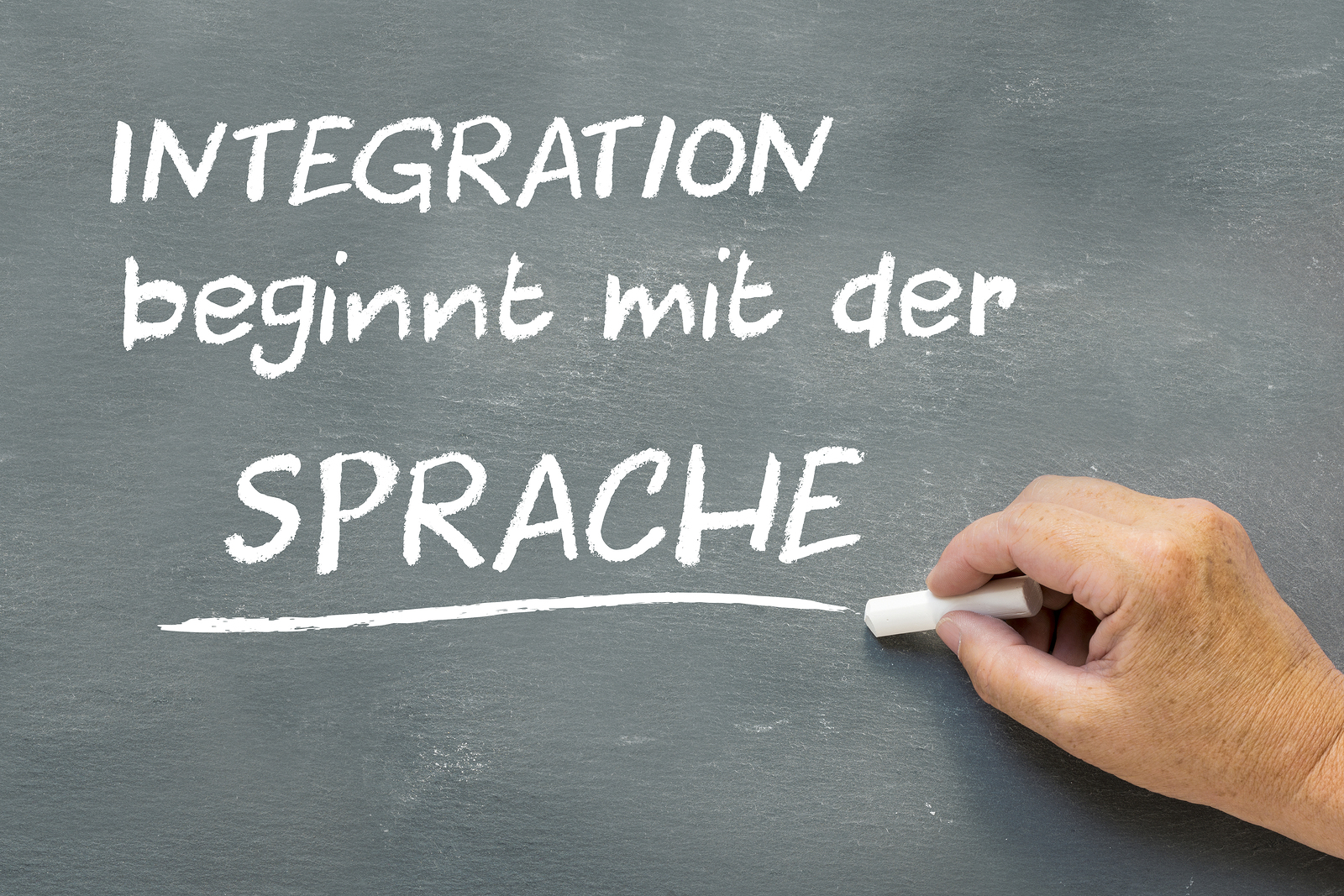 blackboard stating integration beginnt mit der Sprache