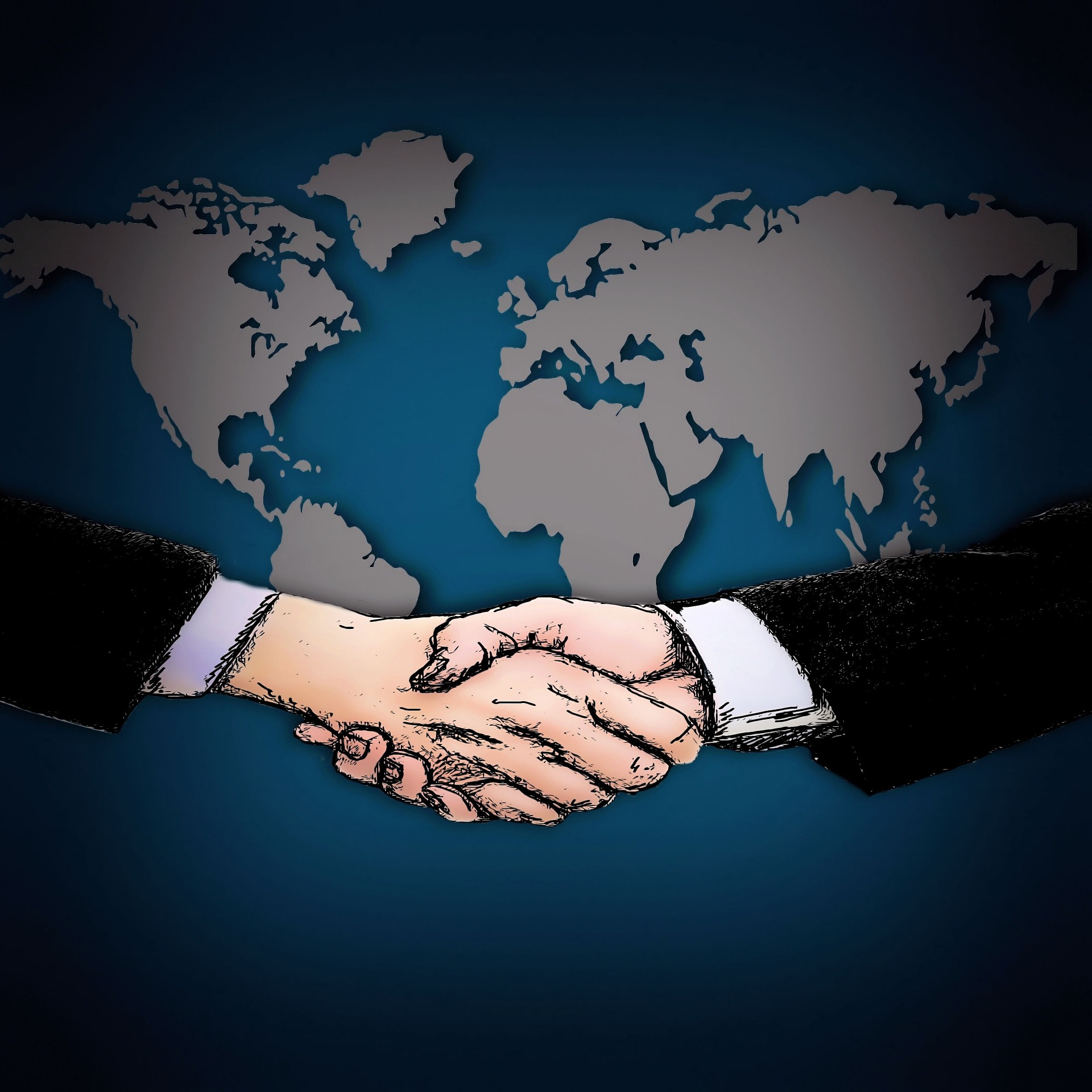 Shaking hands across the globe
