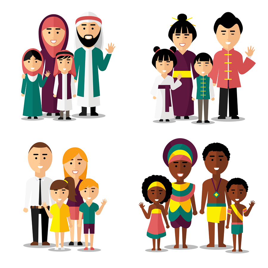 image of mixed cultural families