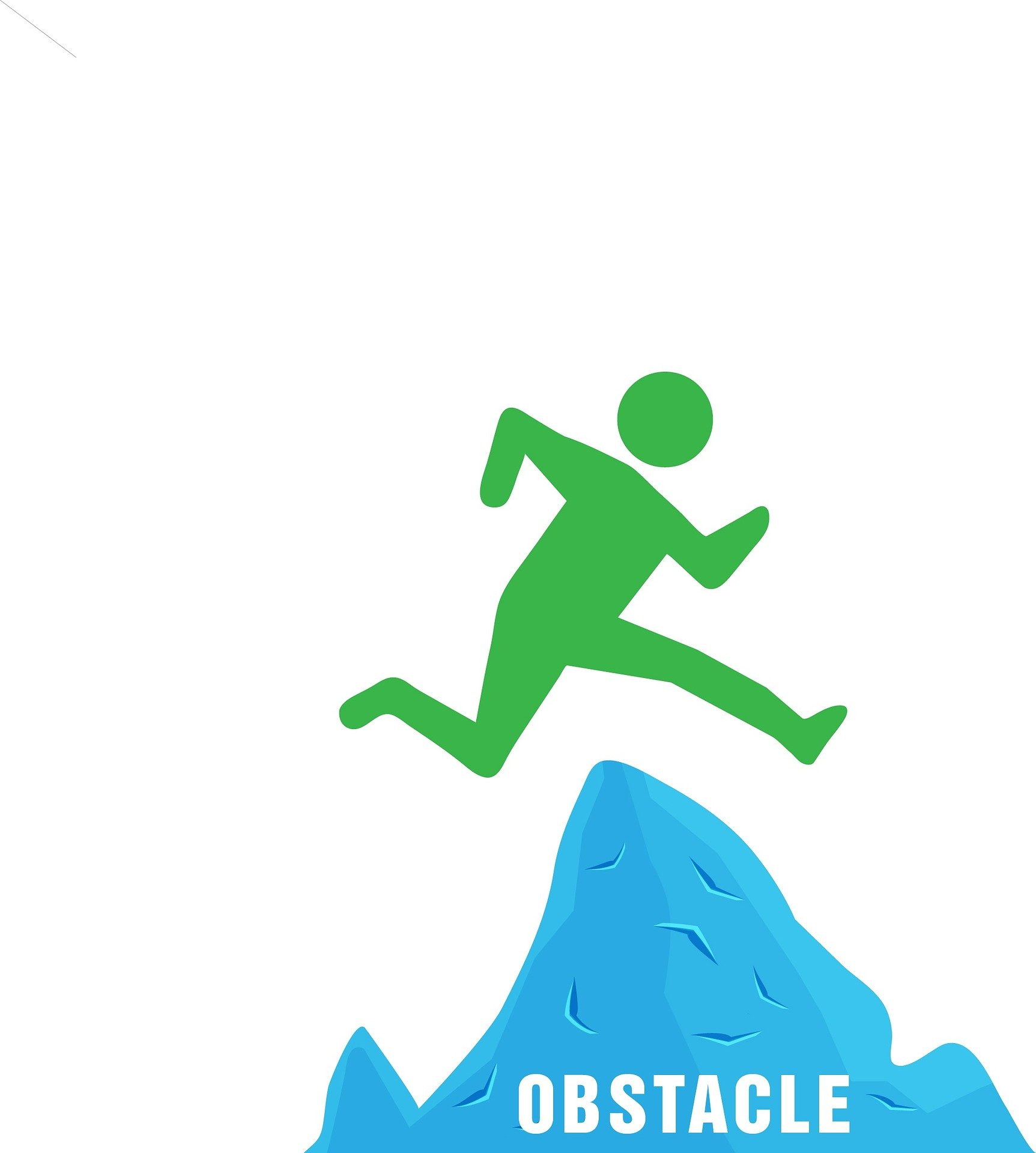 image of figure overcoming obstacle
