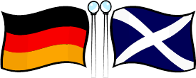 image of Scottish and German flags