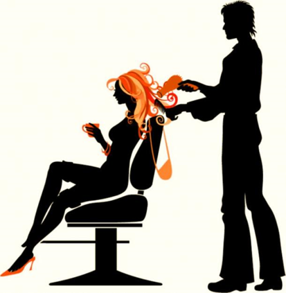 clipart of stylist cutting hair