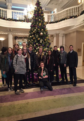 Pupils from Broughton High School at The Balmoral Hotel