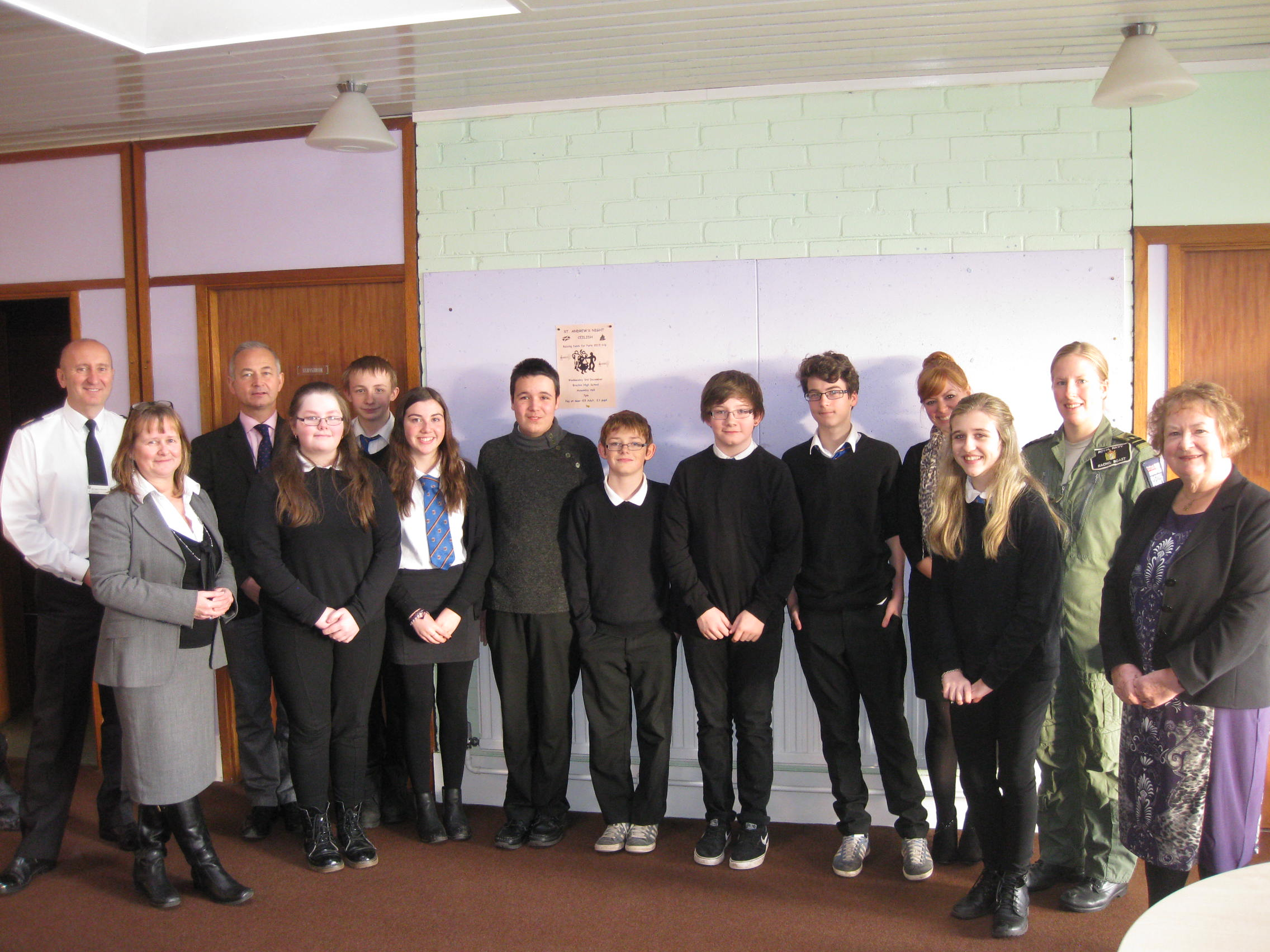 Pupils at Brechin High School