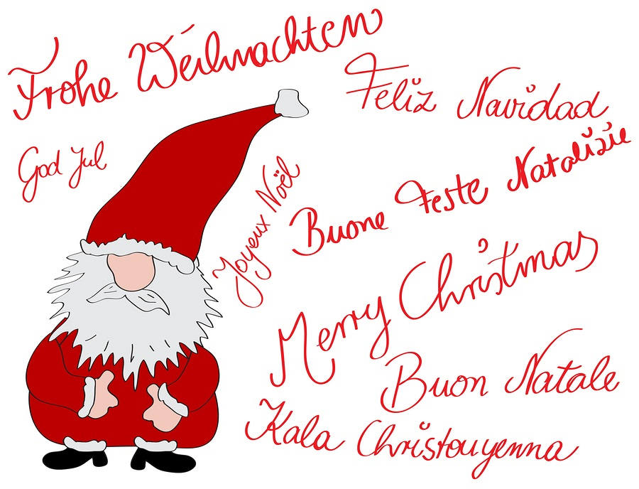graphic about Merry Christmas in Different Languages Printable referred to as Xmas